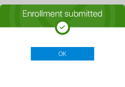 Enrollment Submitted Screenshot